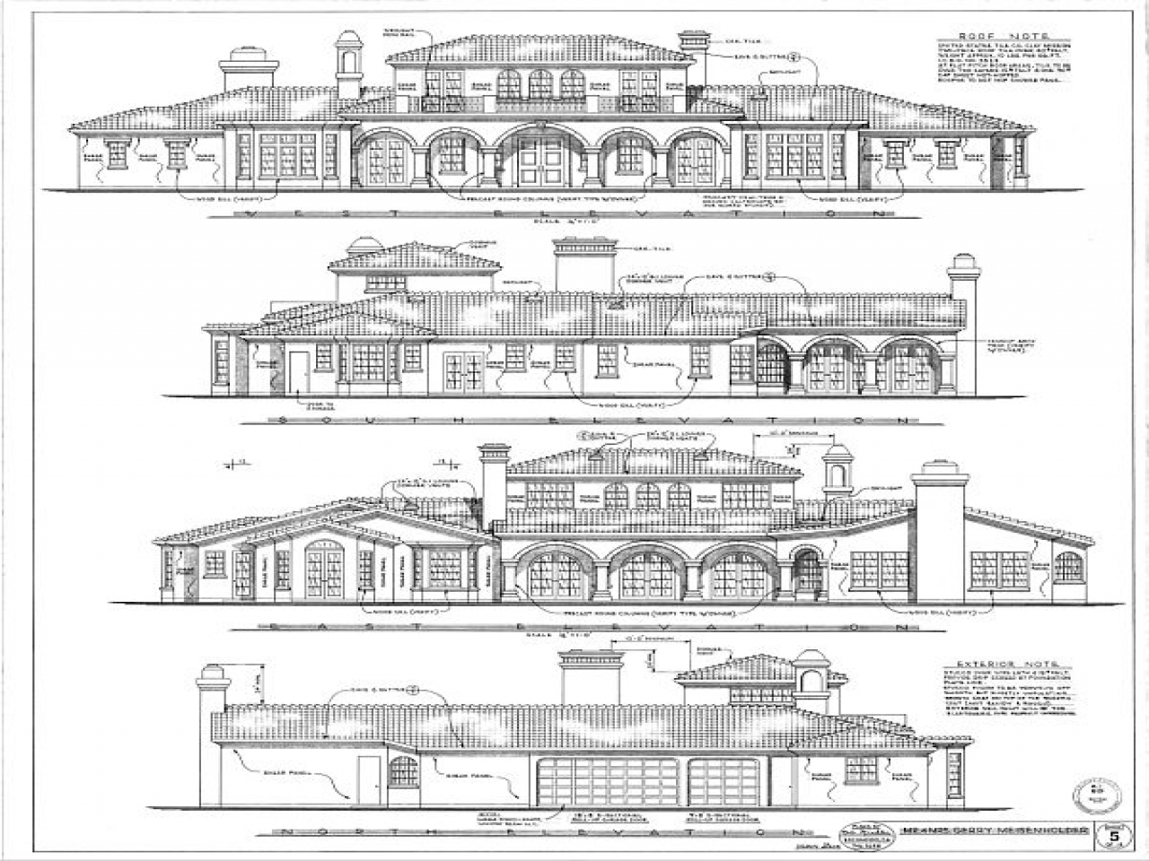 Plan Vs Elevation : Architecture drawings plan elevation drawing house