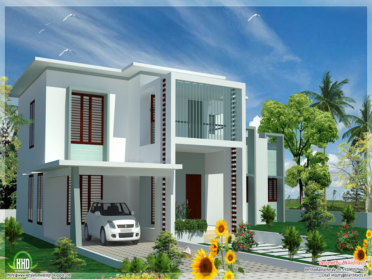Flat Roof Homes Flat Roof Modern House Plans, two bedroom ...