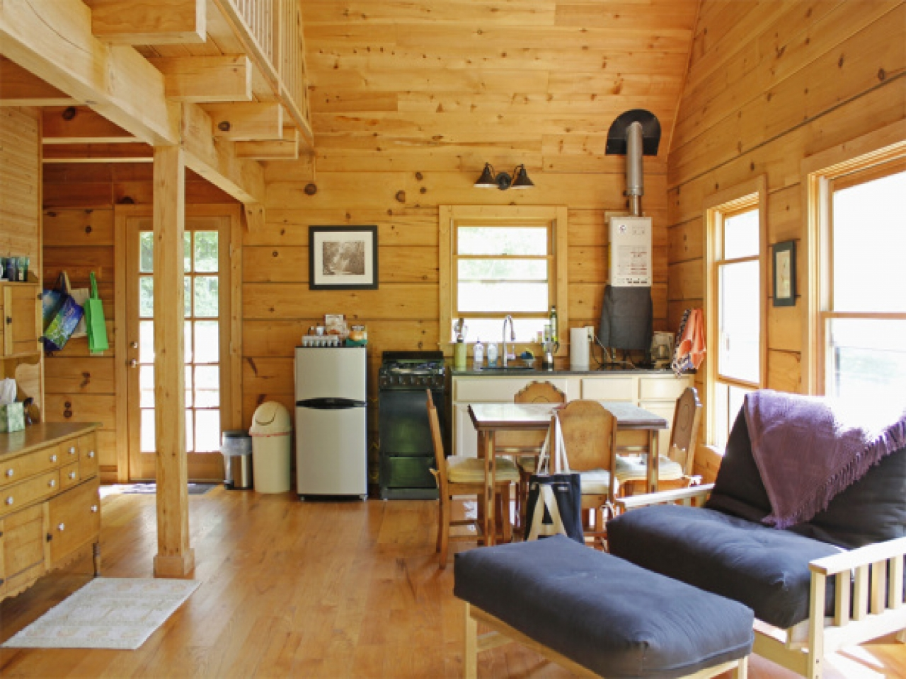 Frame a small cabin interior small a frame cabin plans for Small a frame cabin plans with loft