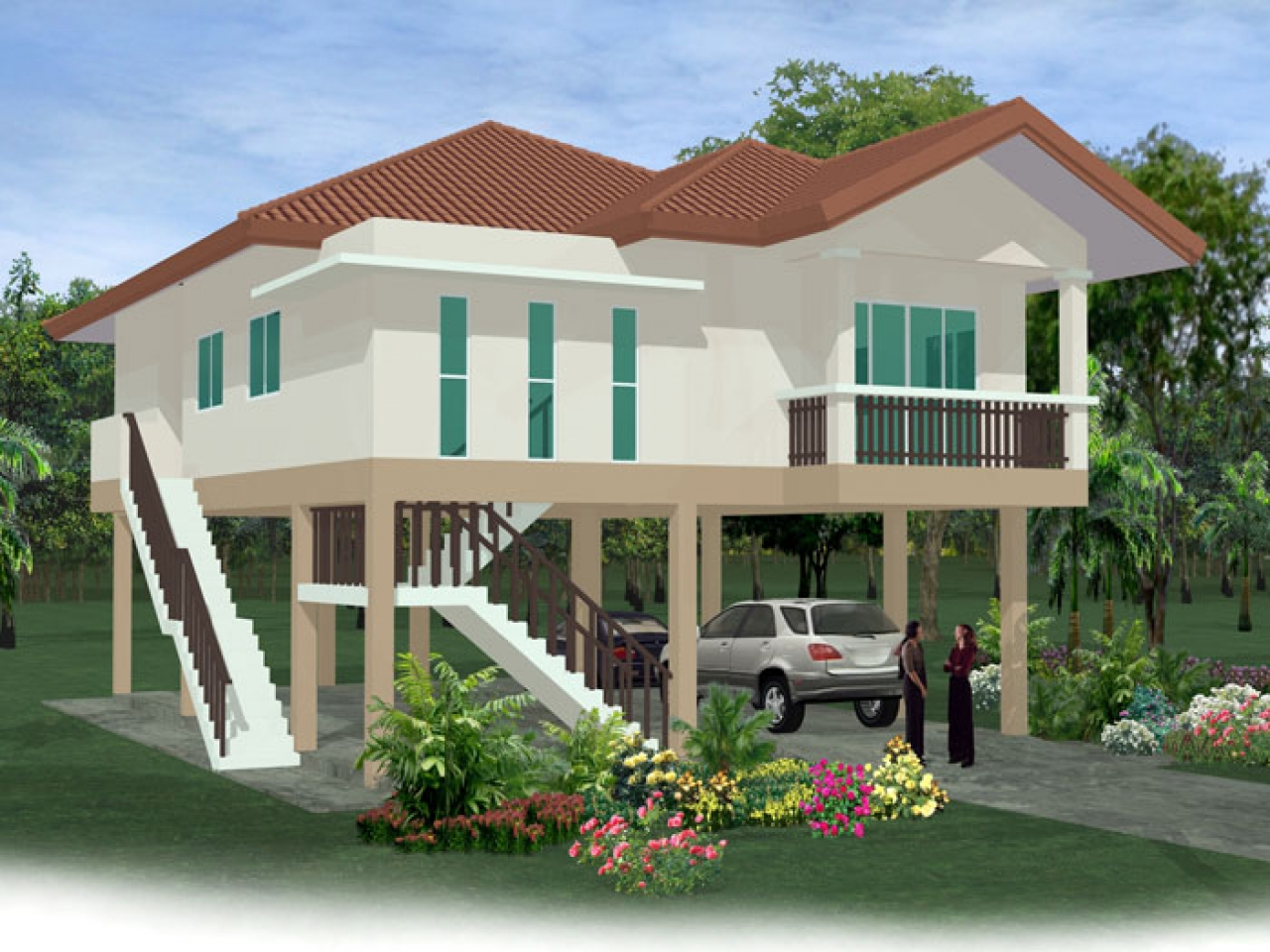 House On Stilts Floor Plans Homes On Stilts House Plans ...