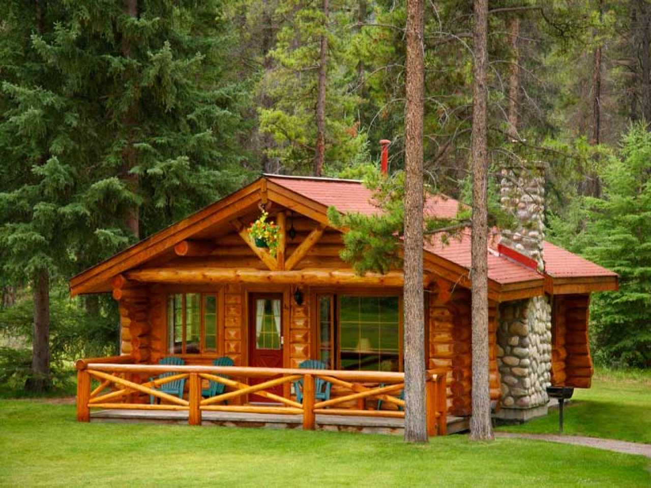 One room log cabin homes log cabin country primitives 4 for Country cabin designs