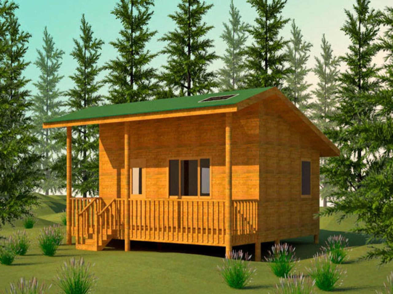 Small hunting cabin plans inexpensive small cabin plans for Energy efficient cabin