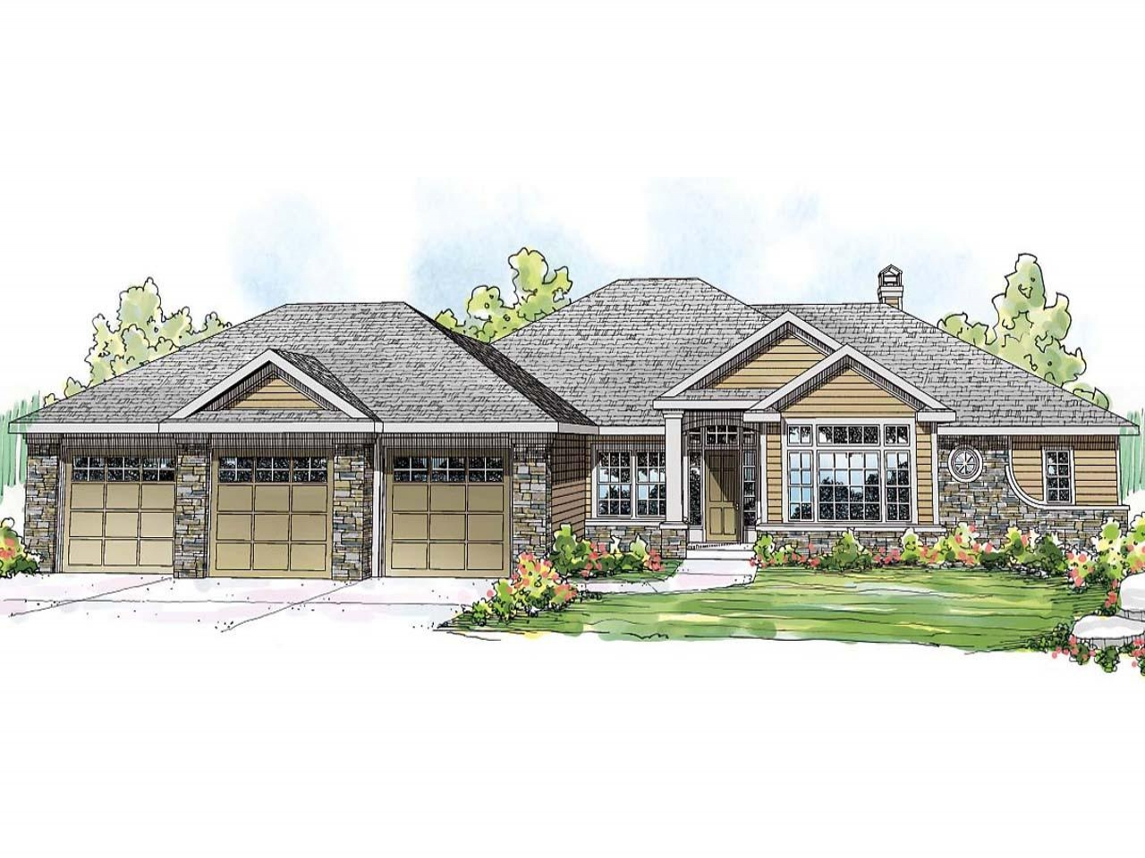 Small lake house lake view ranch house plans lake front for Lakefront house designs