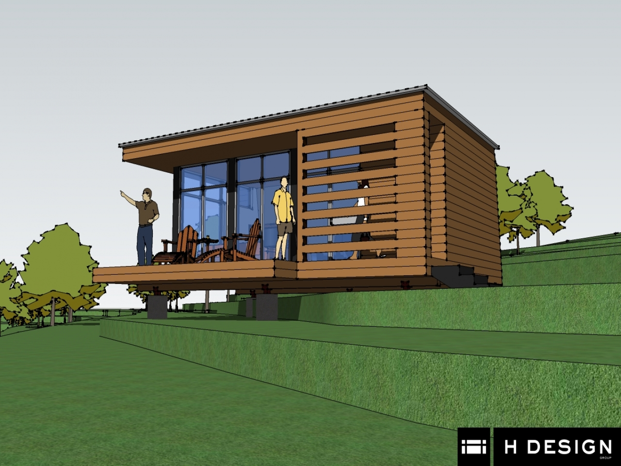 Small modern cabin plans loft small cabin plans 20x24 for Modern cabin plans with loft