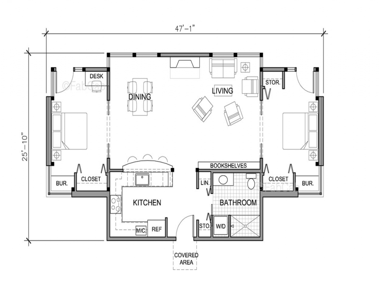 Small one story house floor plans one story house simple Simple cottage floor plans