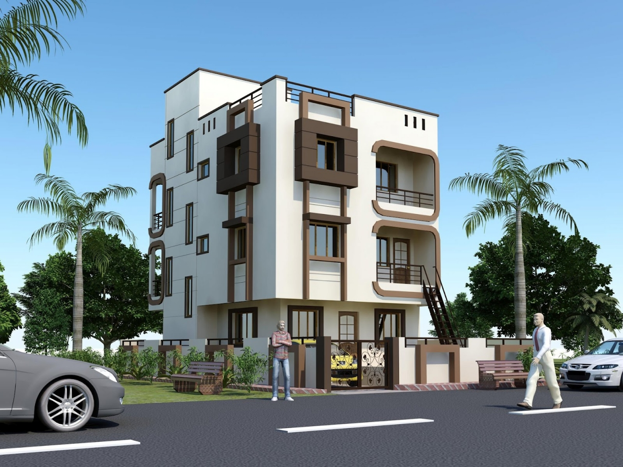 Beautiful houses elevations india front elevation indian - Beautiful front designs of homes ...