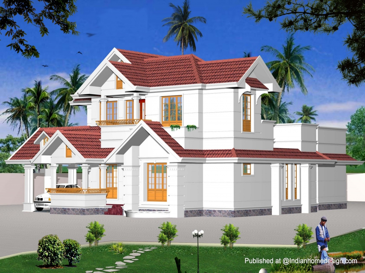 Exterior home house design exterior house colors with for Best exterior house design