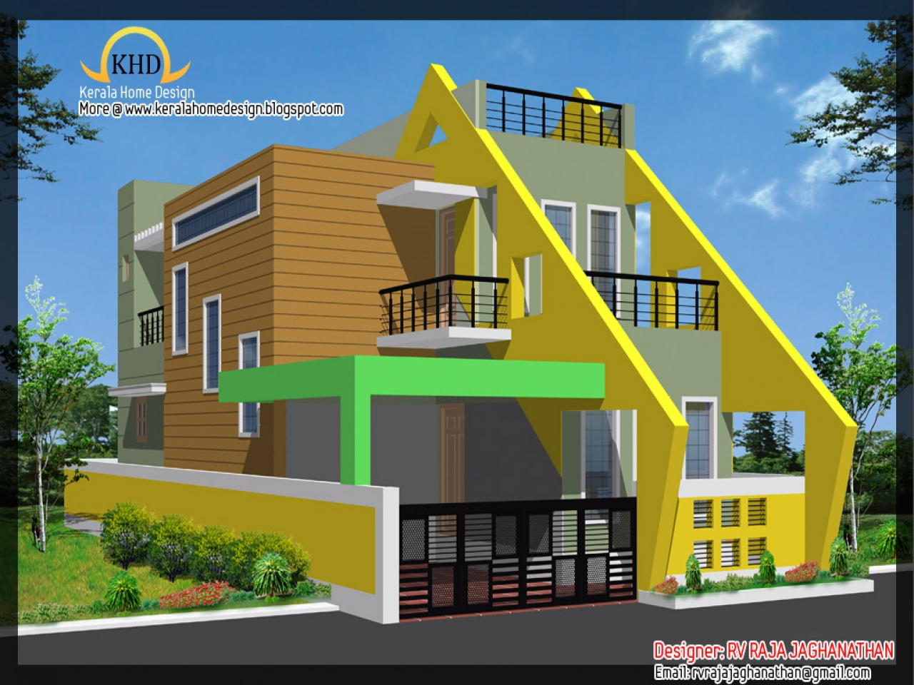 Latest Front Elevation Design : Indian house elevation design front new