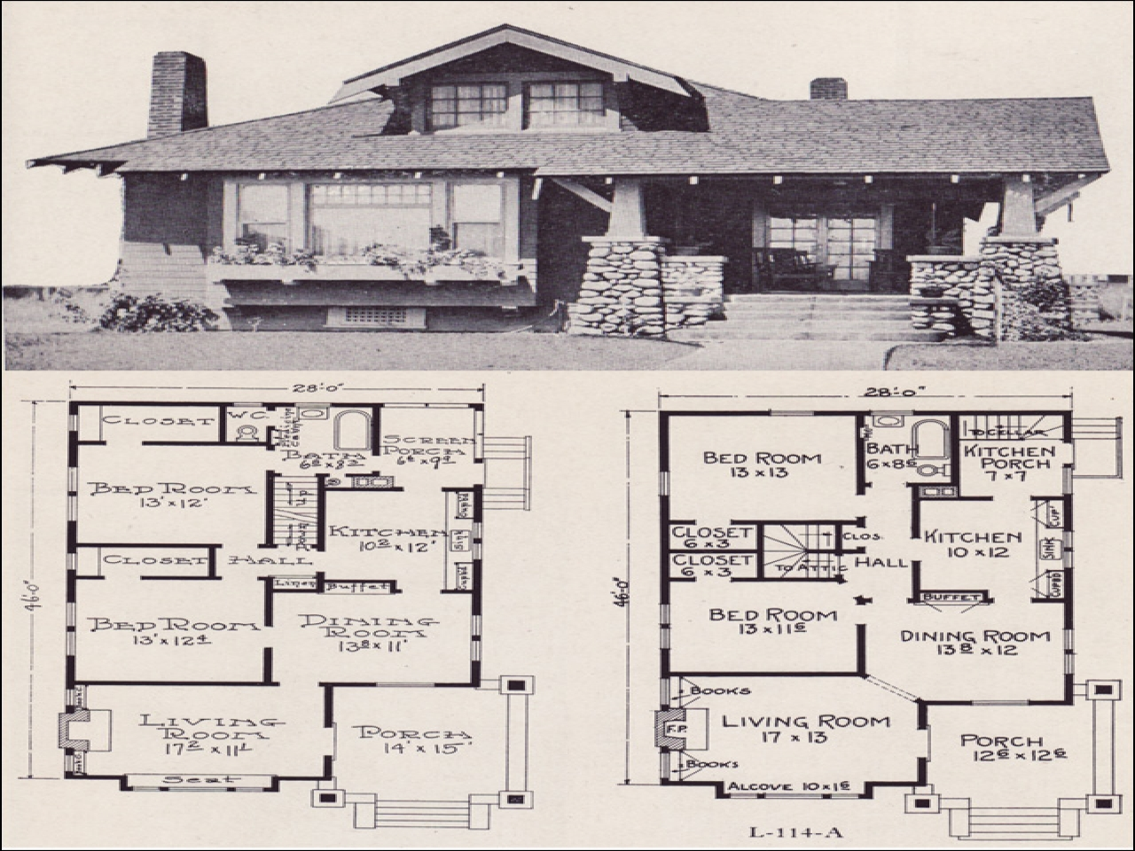 Small House Plans Craftsman Bungalow Craftsman Style