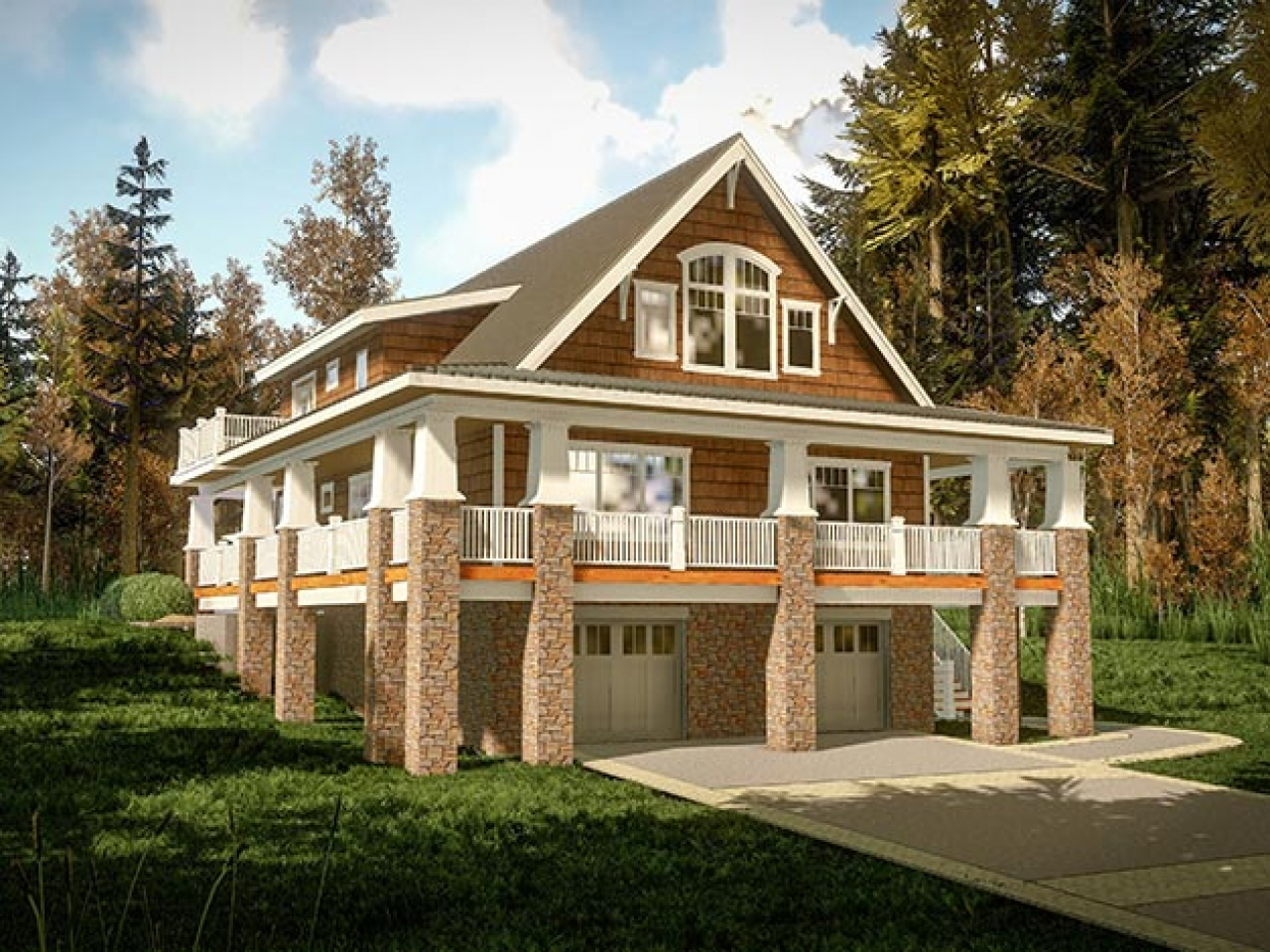 Small lake cottage house plans simple small house floor for Small lake homes floor plans