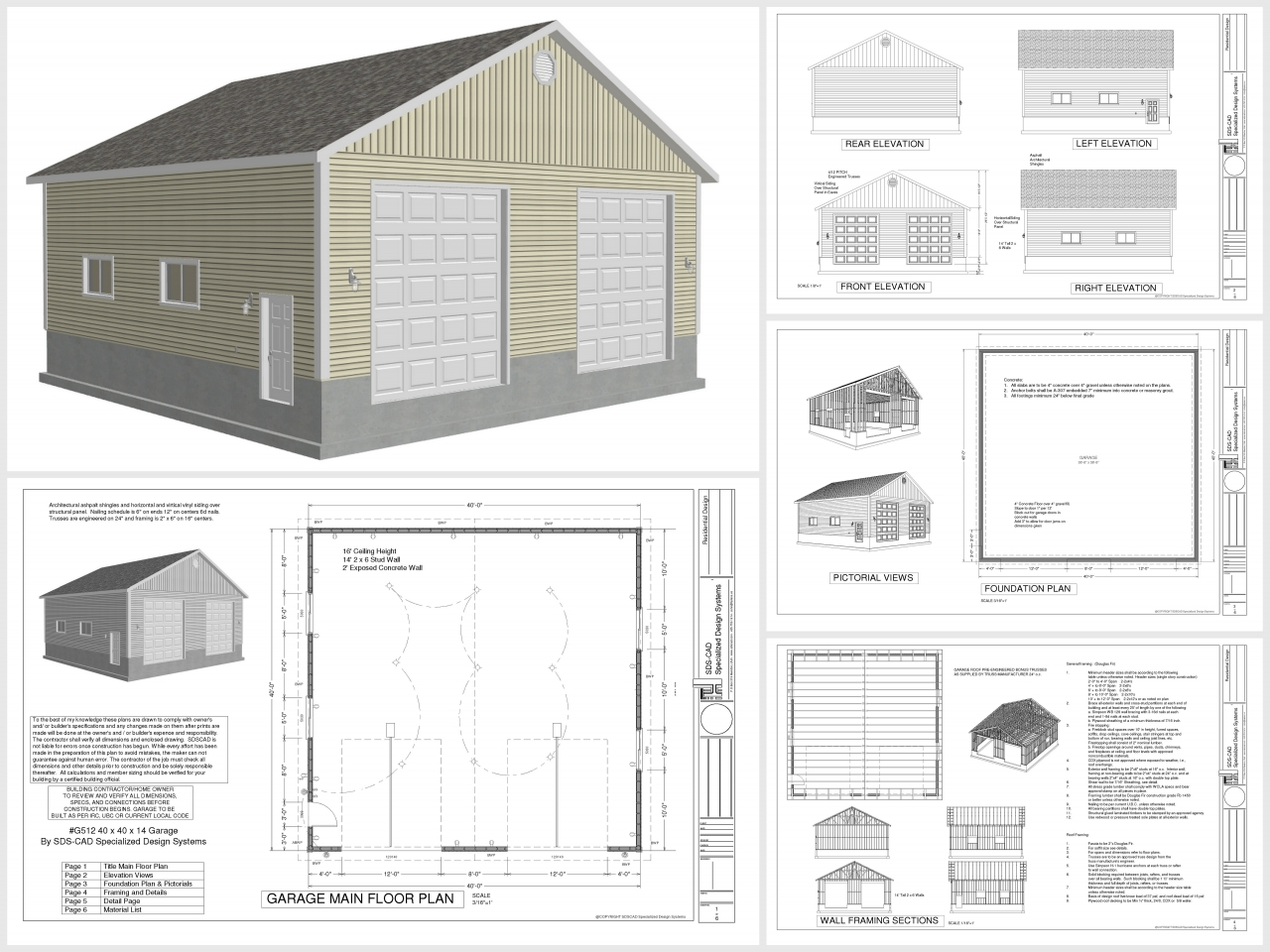 Design Blueprints For A Garage: Free Standing Garage Plans Free Garage Plans, 40x40 House