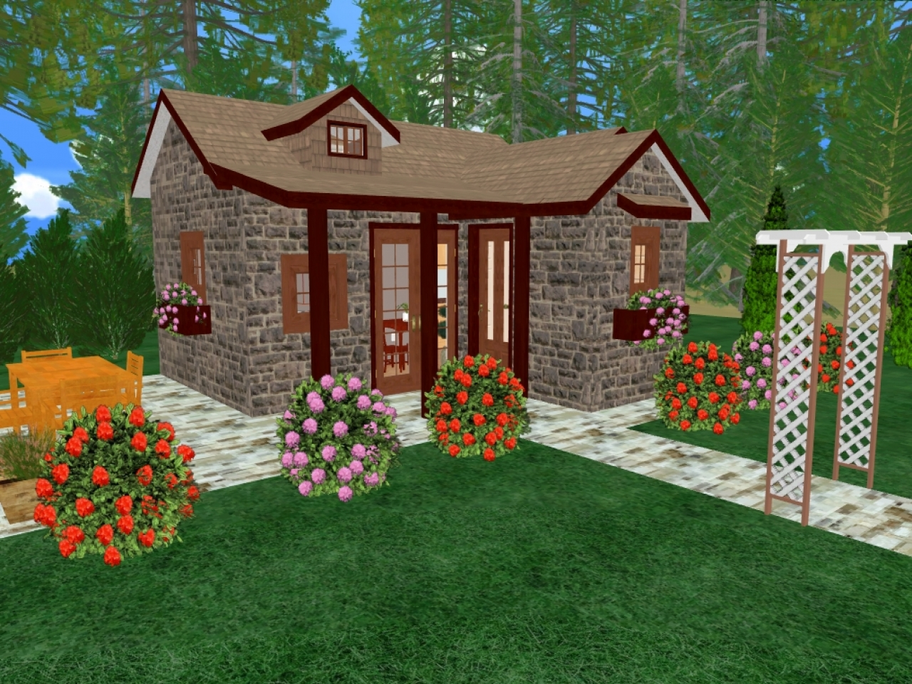 Tiny House Floor Plans Small Cabins Tiny Houses Small: Tiny Romantic Cottage House Plan Tiny Romantic Cottage