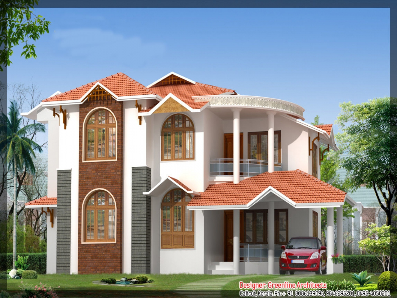 Beautiful kerala house designs kerala beautiful houses for Attractive house designs
