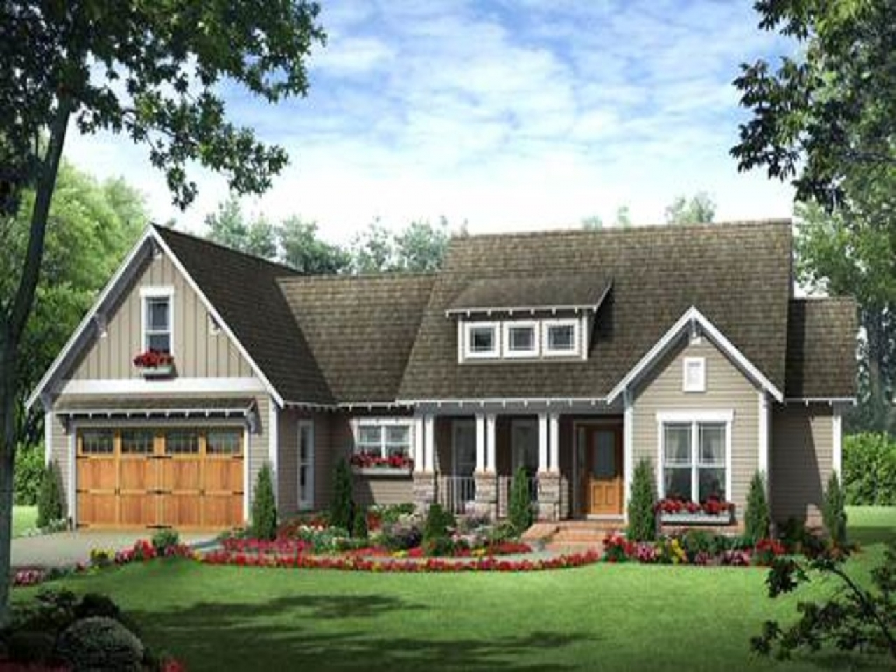 Craftsman rambler house plans craftsman rambler house for Rambler style homes