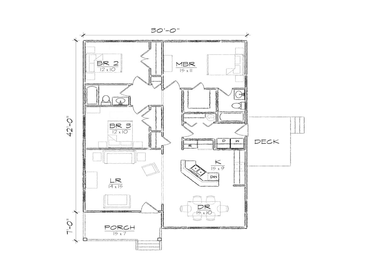 Small bungalow floor plans micro cottage floor plans two for Micro compact home floor plan