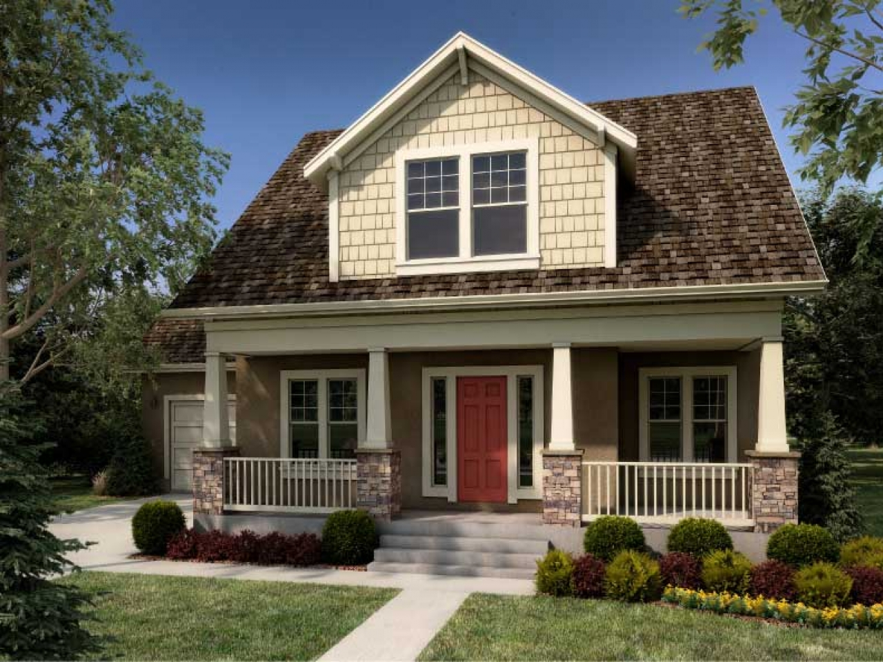 Craftsman home design craftsman one story home designs for Craftsman style homes for sale dallas tx