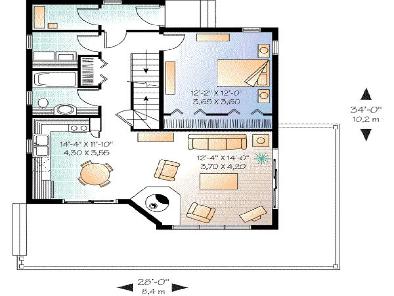 Square Feet Measurement 1300 Square Foot 2 Bedroom House
