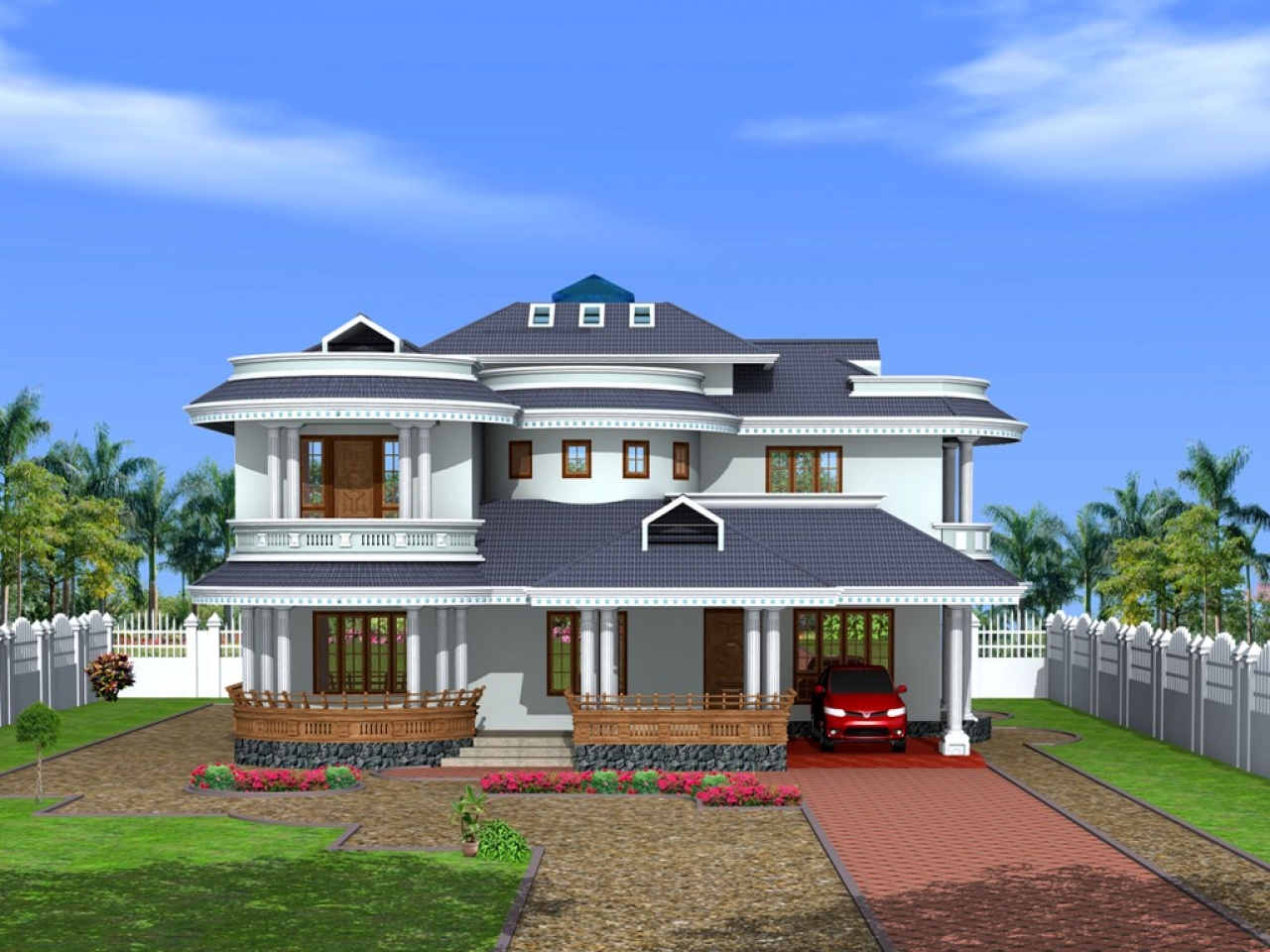 Kerala house interior design kerala house exterior designs bungalow model houses - Kerala exterior model homes ...