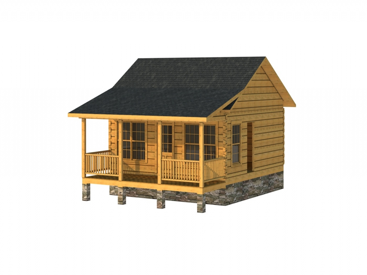 Log Cabin In The Woods Log Cabin 600 Square Foot House