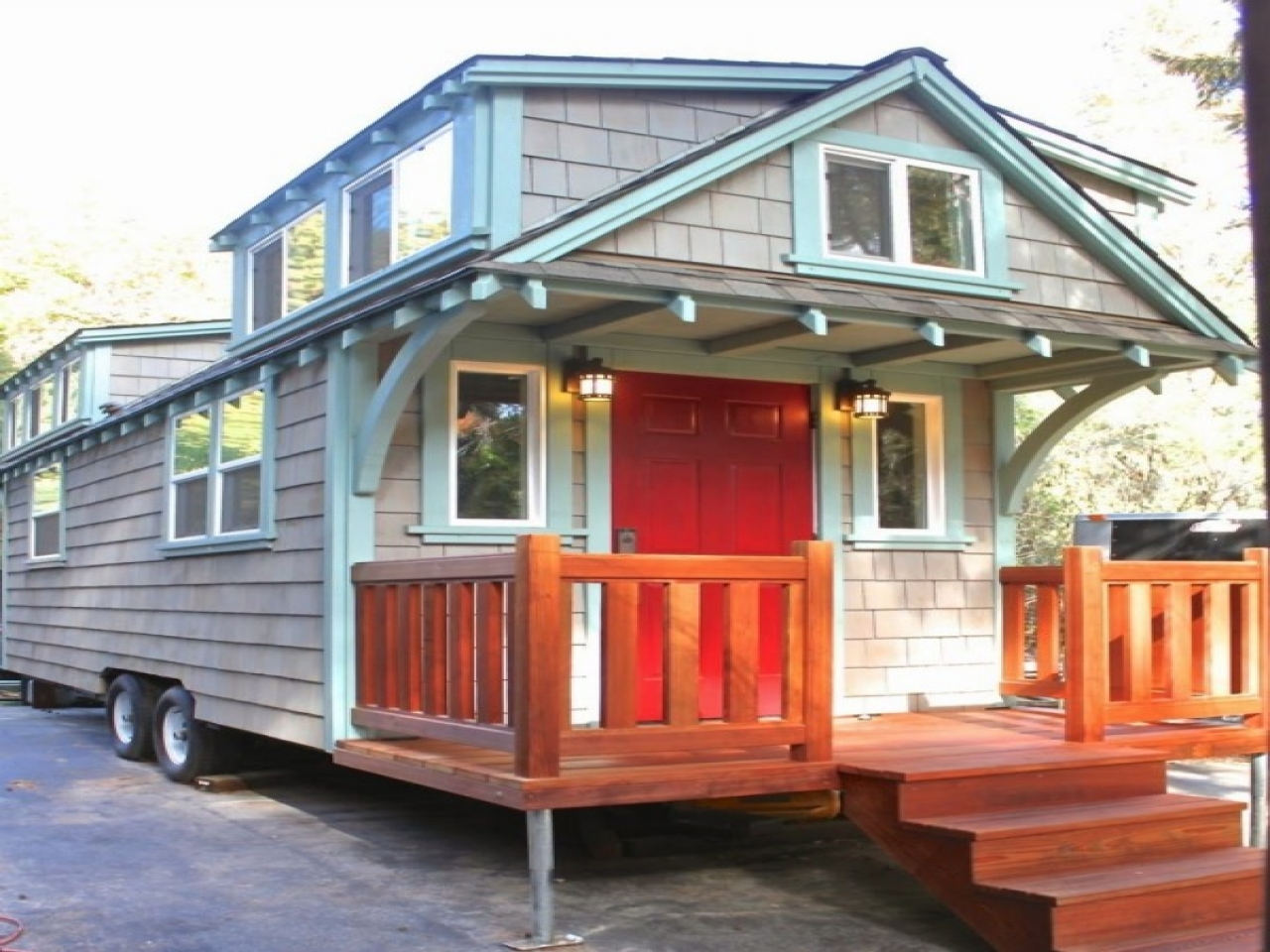 Tiny Home Designs Plans: Tiny House On Wheels Craftsman Tiny Houses On Wheels