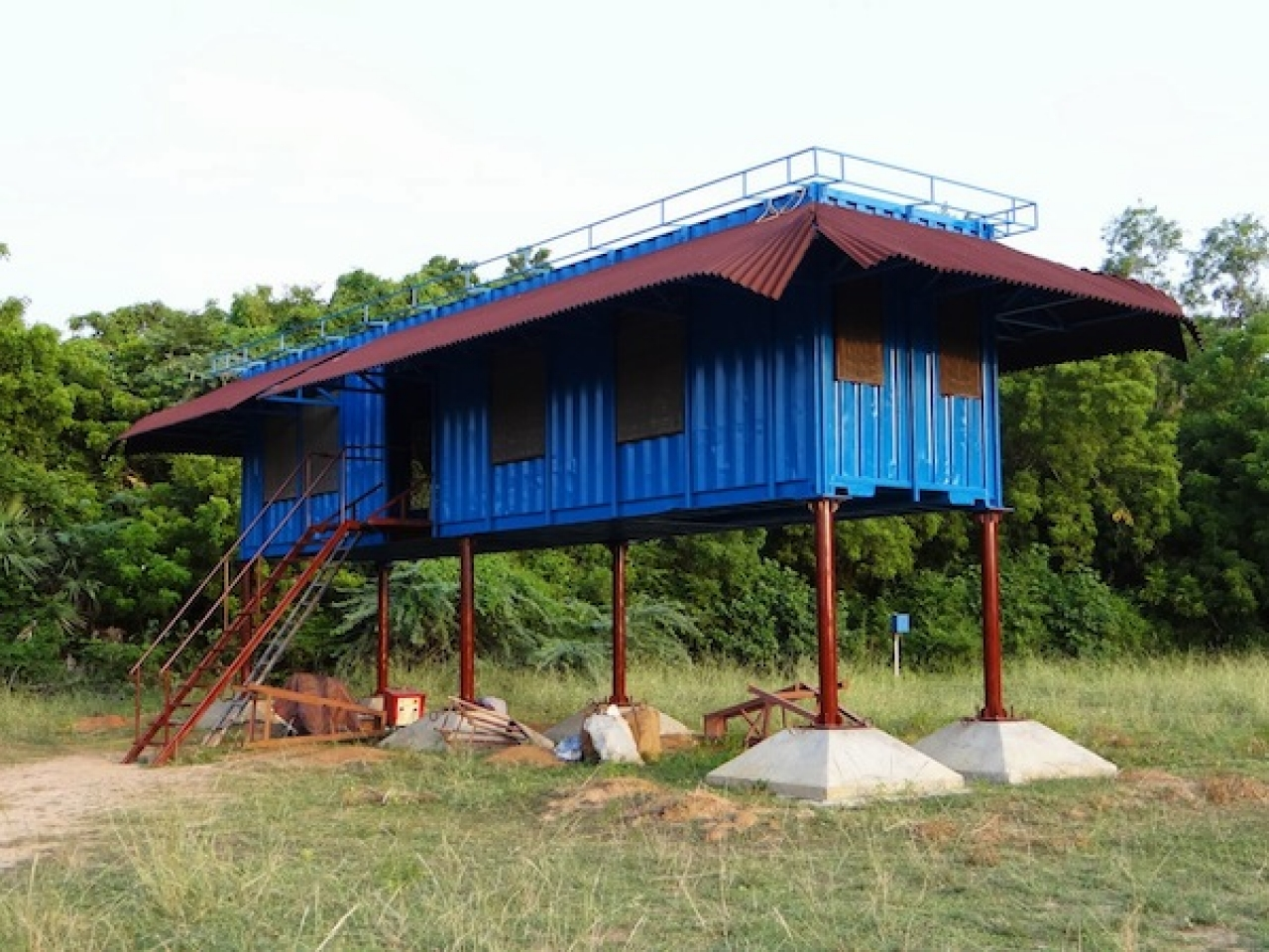 Shipping Container House On Stilts Building A Container