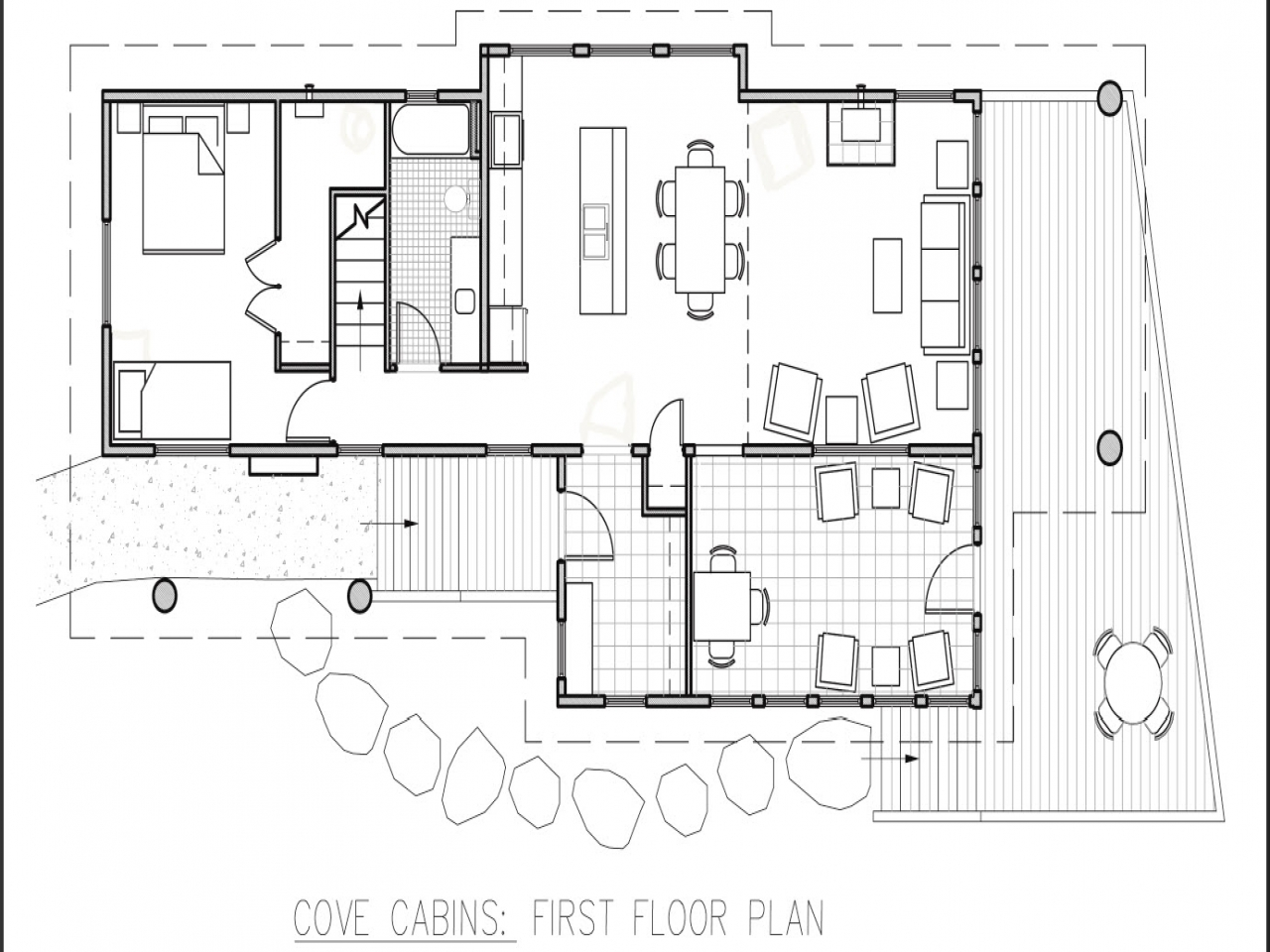 Small hunting cabin floor plans small hunting cabin for Hunting shack floor plans