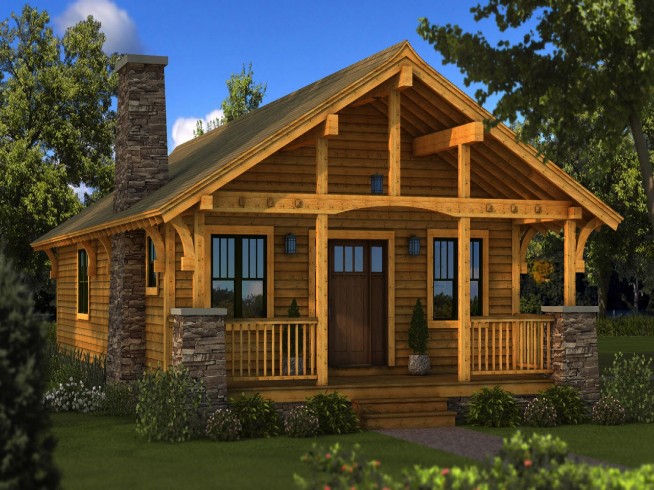 Tiny Log Home Designs: Small Log Cabin Floor Plans Small Log Cabin Homes Plans