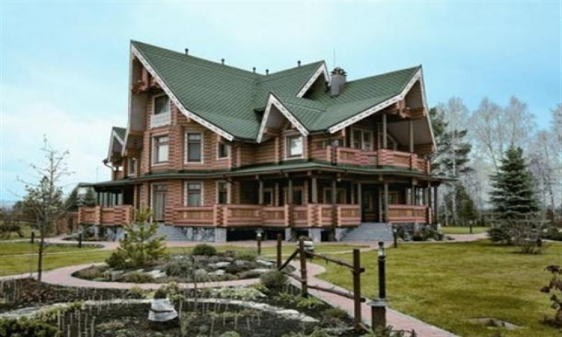 Luxury log cabin home designs custom log homes luxurious for Custom luxury log homes