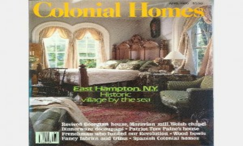 Colonial homes magazine covers colonial primitive for Colonial homes magazine house plans