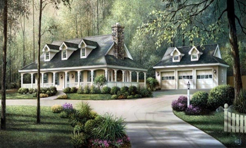Country House Plans With Wrap Around Porches Country House