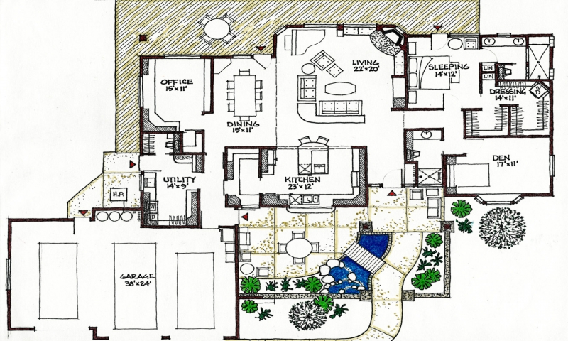 House plans northeast passive solar passive solar house for Passive solar ranch house plans