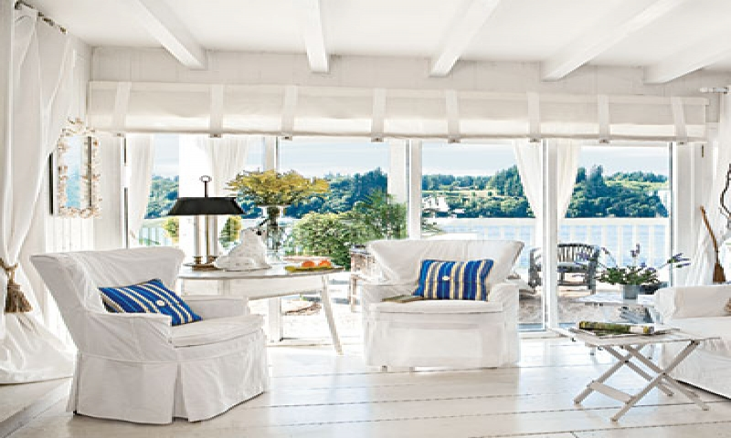 White beach cottage living room beach cottage living room for B m living room furniture