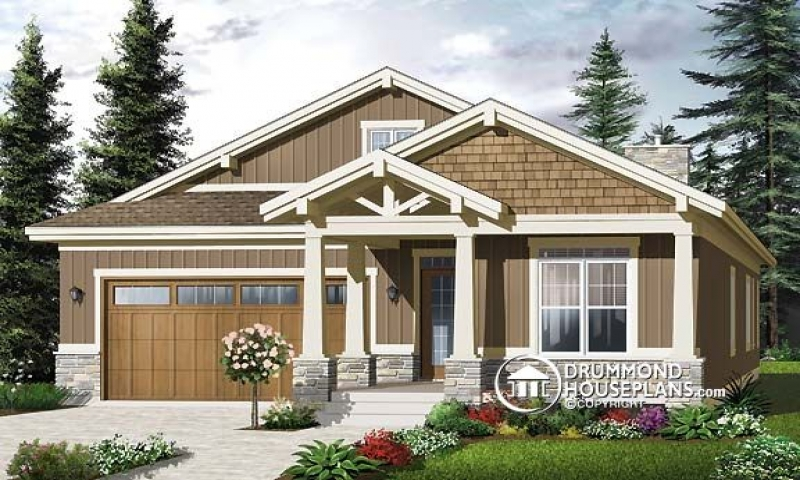 Narrow lot craftsman house plans 2 story narrow lot homes for Shallow lot ranch house plans