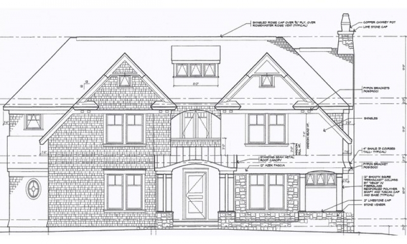 Civil Drawing Front Elevation : Architectural exterior elevation drawings front
