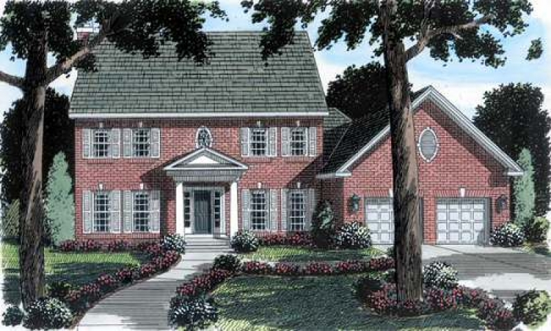 Brick colonial house plans new england colonial house for Brick colonial house plans