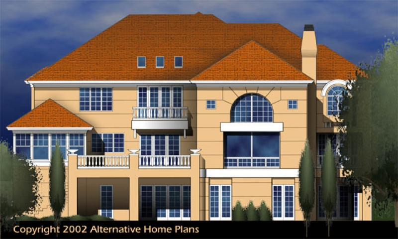 House plans with walk out basements house plans with for Alternative house plans