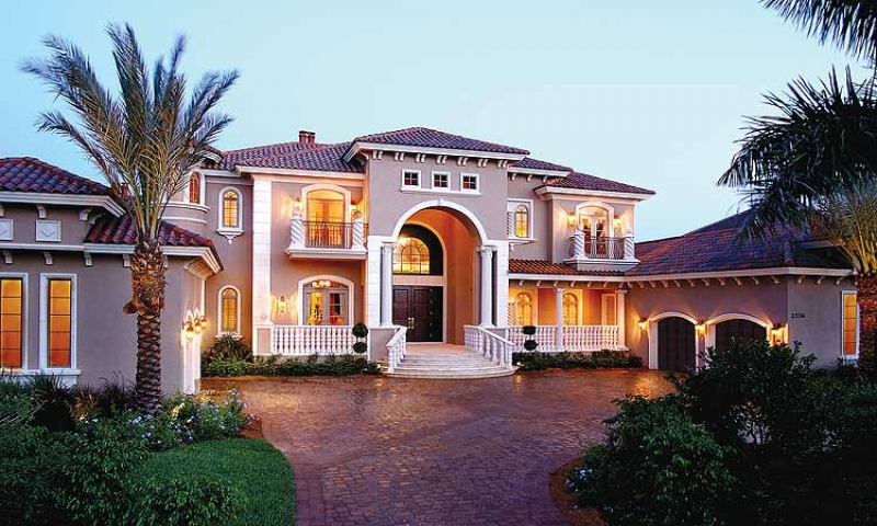 Large mediterranean house plans mediterranean style home for Large luxury house plans