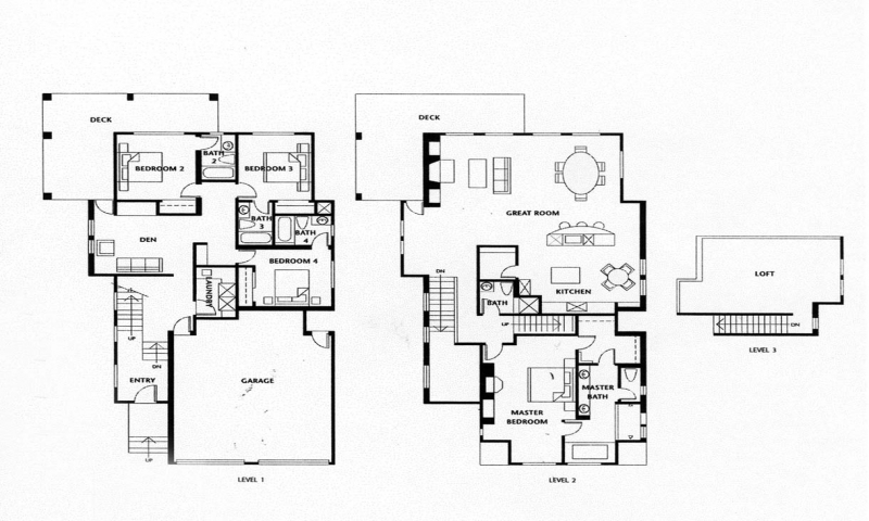 Luxury Homes Floor Plans 4 Bedrooms Small Luxury House