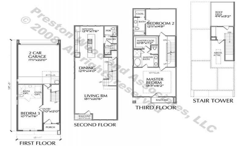 Narrow Townhouse Floor Plans Modern Townhouse Floor Plans