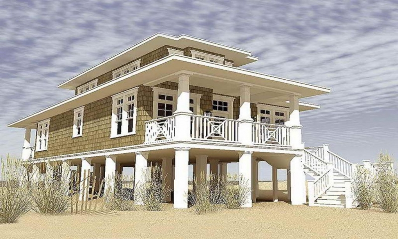 Narrow lot cottage house plans gallery of narrow lot beach for Narrow beach house