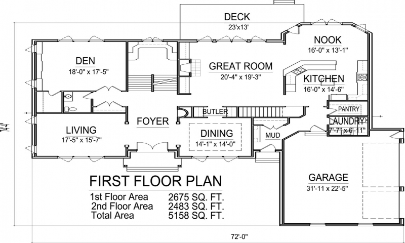 5000 Sq Ft House Floor Plans 1500 Sq Ft. House, 2 Story 5