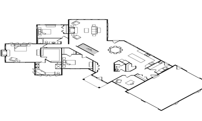 Single story log home floor plans one story log home kits for Single level log home plans