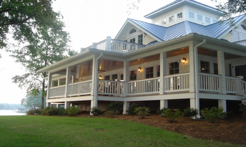 Cottage house plans with wrap around porches beach cottage for Beach house designs with wrap around porch