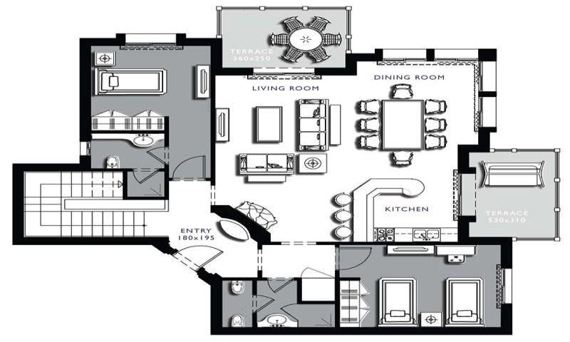 Floor plans architecture on floor with architecture lower for Small condo floor plans