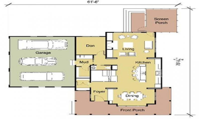 Modern cottage floor plans modern floor plans one bedroom for 16x32 2 story house plans