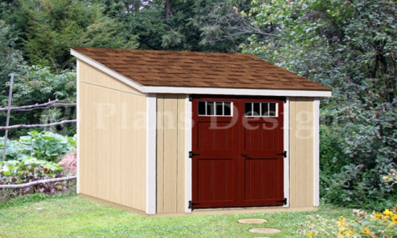 Lean Storage Shed Plans Small Cabin Treesranch