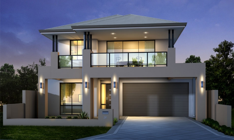 Modern two storey house designs modern house design in for Double storey beach house designs