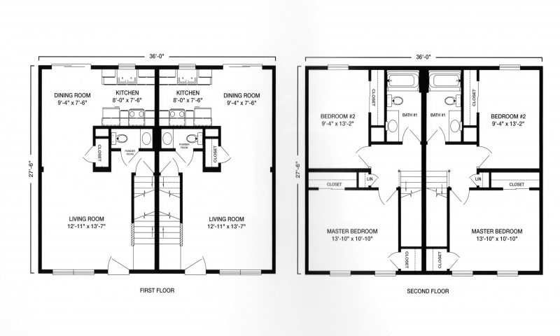 Duple House Plan With Garages Two Story on