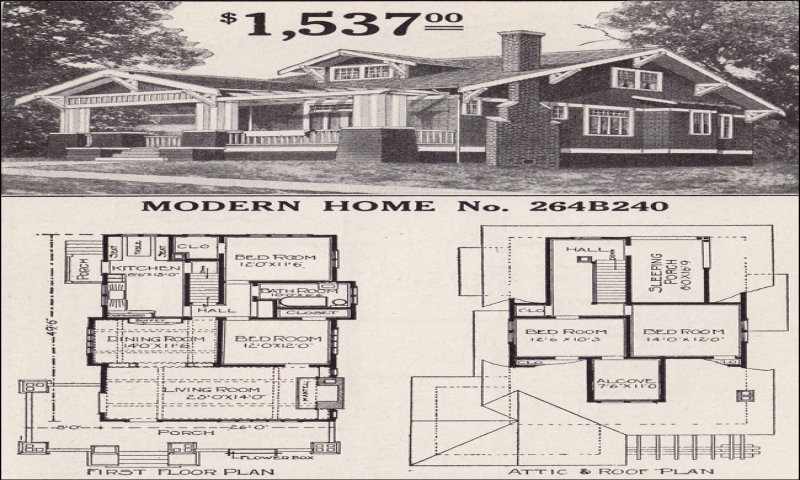 1930s Sears Bungalow 2 Bedroom Sears Craftsman Bungalow Home Plans Craftsman House Floor Plans