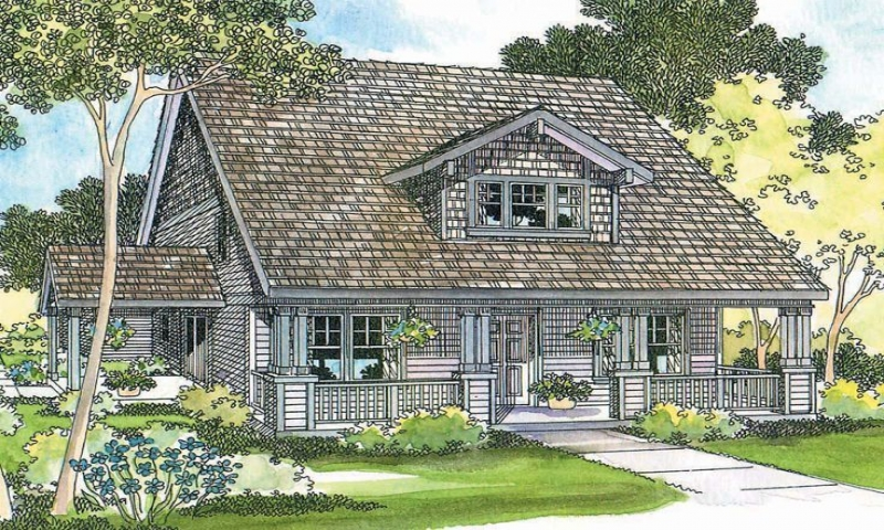 Bungalow House Plans With Attached Garage Picture Modern